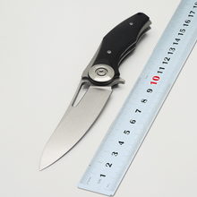 BMT Camping Dark V Folding Blade Knife Wild D2 Blade G10 Handle Flipper Tactical Knife Survival Outdoor Hunting Knives EDC Tools