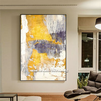 Canvas nordic painting cuadros decoracion acrylic abstract color yellow painting Wall art Pictures for living room home decor61