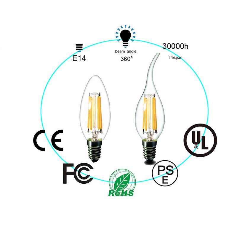 LED Bulb E27 LED Filament Bulb E14 LED Candle Edison Light 220V Glass Bulb Lamp Replace 20W 30W 40W 50W Incandescent