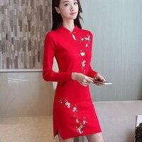2018 nowe suknie ślubne koronki czerwony nowoczesne orientalne chiński tradycyjny qipao formalna długa sukienka tradycje niebieski dla kobiet