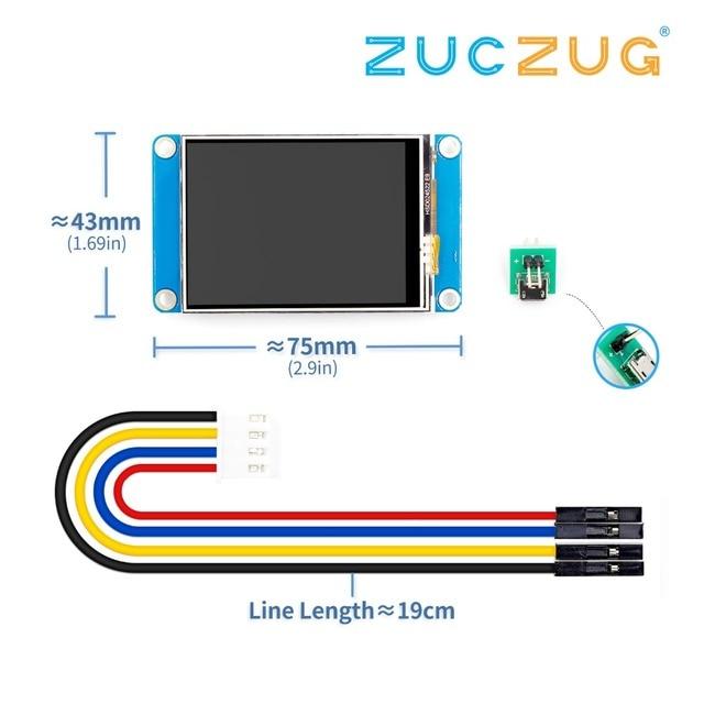 """Nextion anglais 2.4 """"TFT 320x240 écran tactile résistif USART UART HMI série écran LCD Module framboise Pi 2 A +"""