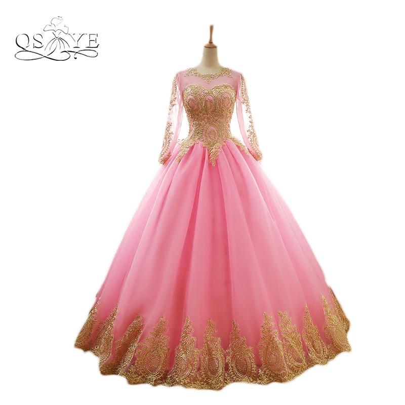Varboo_elsa Dubai manga larga tulle prom vestido 2018 vintage Arabe ...