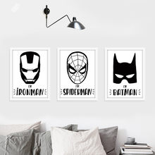 New Nordic The Avengers Batman Spiderman Ironman Quote Canvas Art Print Poster Wall Pictures for Home Decoration No Frame SZ893(China)