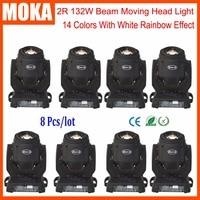 8pcs/lot New arrival 132w mini led beam head stage dj laser light christmas laser projector dmx control