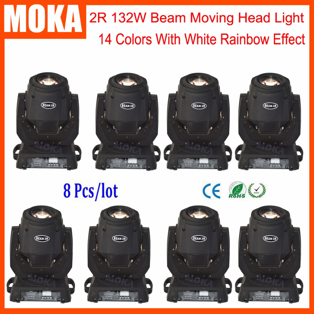 8pcs/lot New arrival 132w mini led beam head stage dj laser light christmas laser projector dmx control 6pcs lot white color 132w sharpy osram 2r beam moving head dj lighting dmx 512 stage light for party