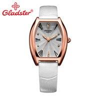 Gladster Special Sapphire Crystal Glass Female Watch Japan Miyota GL30 Leather Lady Quartz Watch