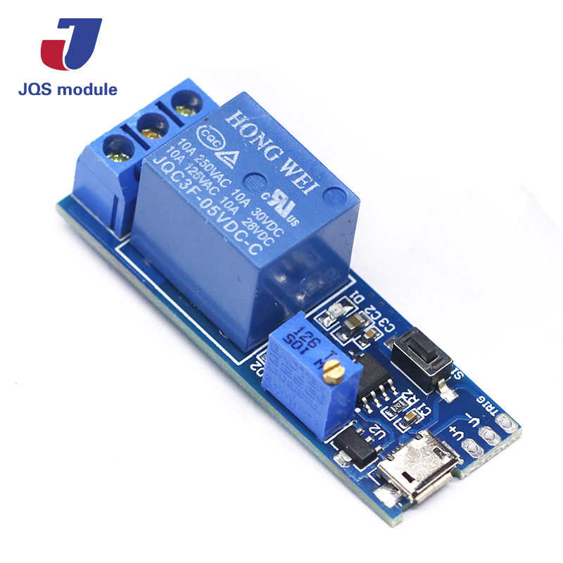 38f15cda3 1Pcs Trigger Delay Timer Relay Conduction Relay Module Time Delay Switch  Wide voltage 5V-30V