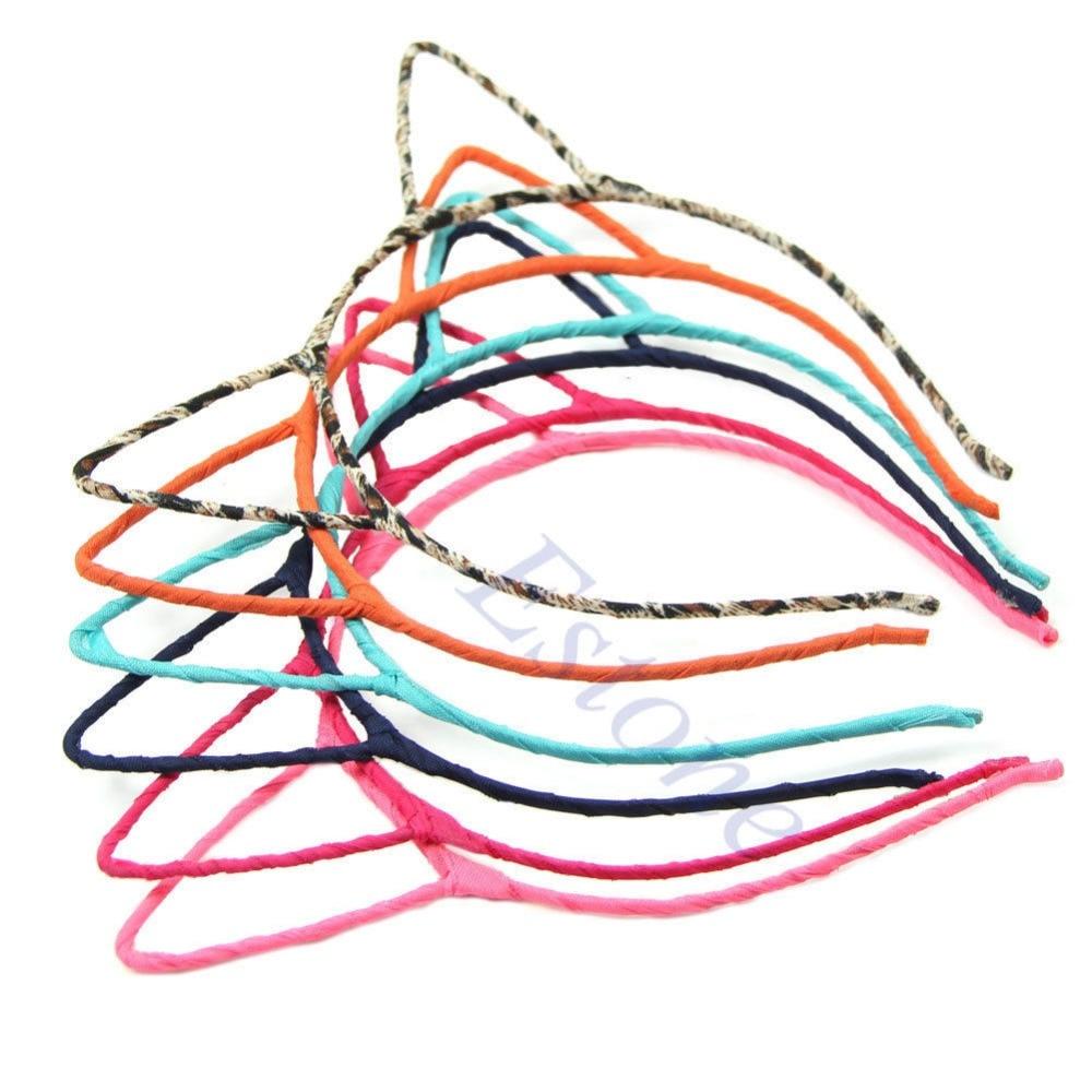 ᑐDiseño de Moda orejas de gato patrón diadema banda para el cabello ...
