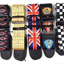 Electric-Guitar-Strap Acoustic Checker/lucky-Cat 10-Pattern Niko-Printed Nylon