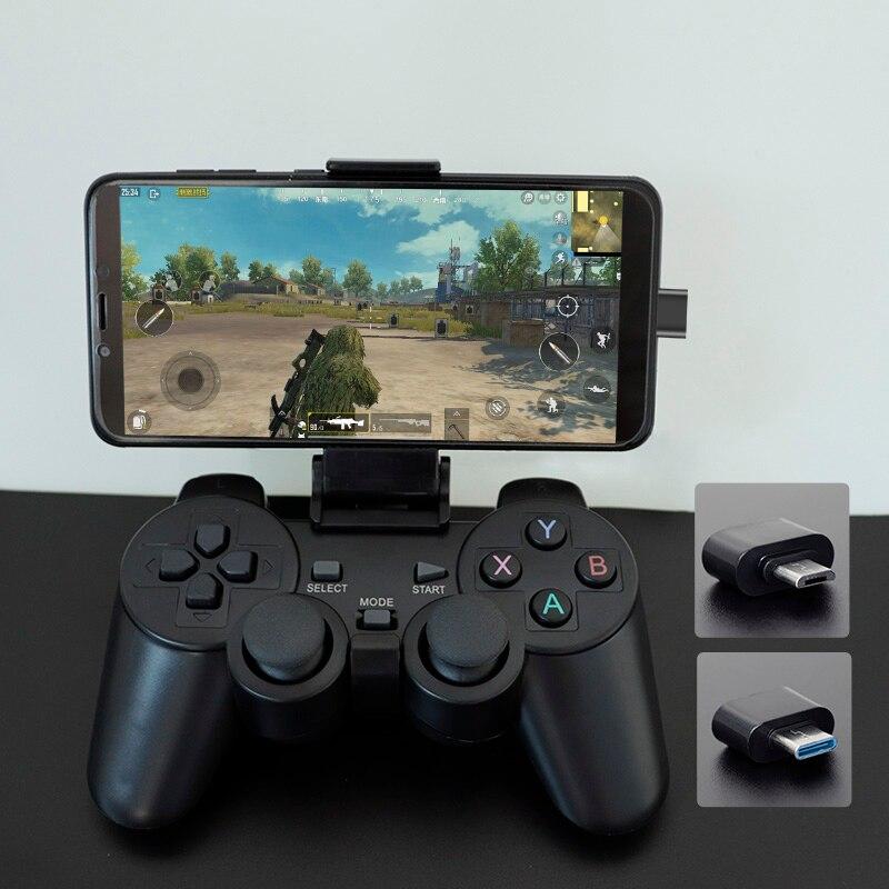 Gamepad sem fio Para Android Phone/PC/PS3/Caixa de TV 2.4G Joypad Game Controller Joystick Para Xiaomi telefone inteligente
