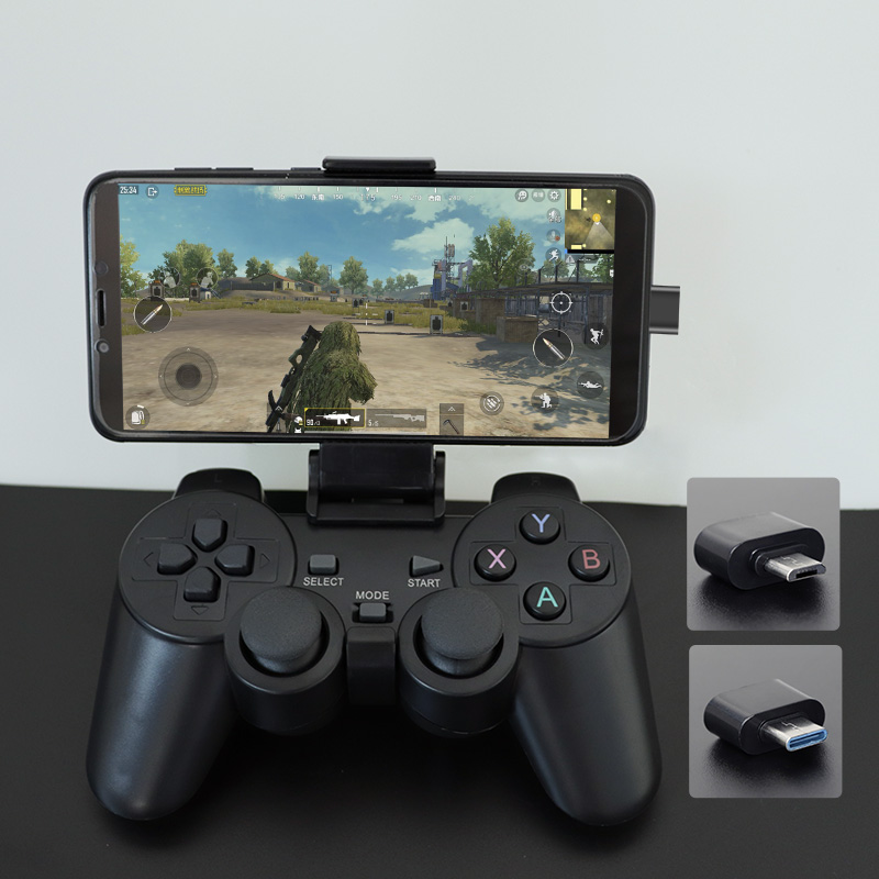 Gamepad sem fio Para Android Phone/PC/PS3/Caixa de TV 2.4G Joypad Game Controller Joystick Para Xiaomi telefone inteligente