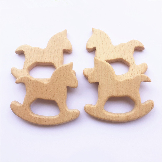 Ten Organic Wooden Teethers Infant (3-12 months) Shop by Age Teethers & Rattlers Toddler (1-3 years)