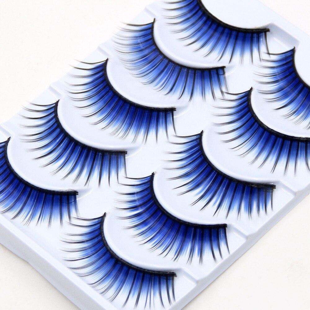 3cf2c6cc536360 YOKPN Kleur Overdreven Valse Wimpers Toneelschmink Natuurlijke Art Blauw  Valse Wimpers Make Cross Dikke Blauw Valse Wimpers