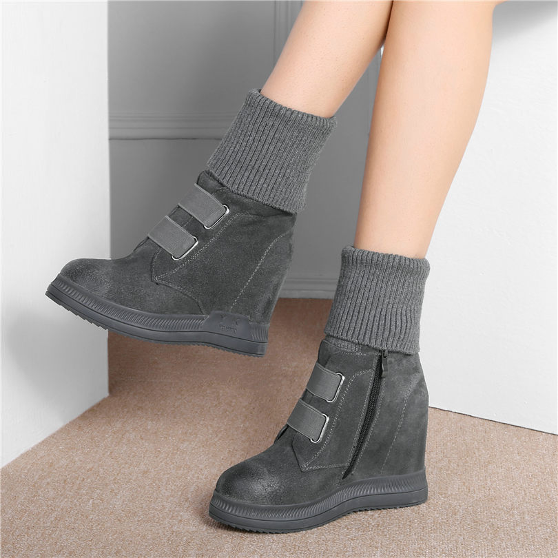Véritable Chaud Femmes D'équitation Pour À Black1 white2 Bout Talons Hiver Plate Cuir Sneakers Long top Hauts En Pompes Nayiduyun brown1 grey1 Rond Cales Salut Chaussures forme black2 Bottes xwOEqOTY