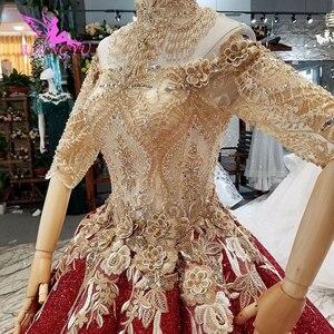 Image 4 - AIJINGYU ウェディングドレスウクライナガウンショートプラスサイズヴィンテージブラシレースと Bridals 価格既製ガウン Weddimg ドレス