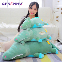1pc 70/105cm Cartoon Lying Crocodile Elephant Plush Toy Cute Baby Kids Hand Warmer Dolls Stuffed Toys Sofa Cushion Toys for Kids