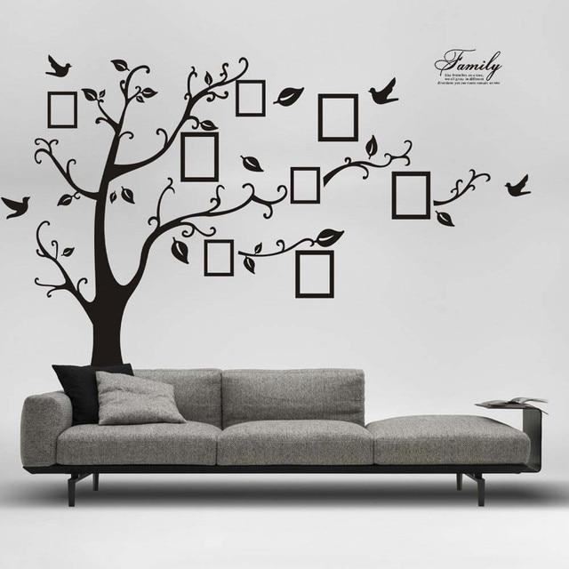 Homey Design Hot 180*250cm 3D DIY Photo Tree PVC Wall Febals Wall Stickers  Home