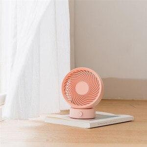 Image 3 - XIAOMI Mini Circulation de lair 3Life, 180 degrés de rotation, 330 degrés, puissance éolienne, USB, faible bruit, blanc et rose