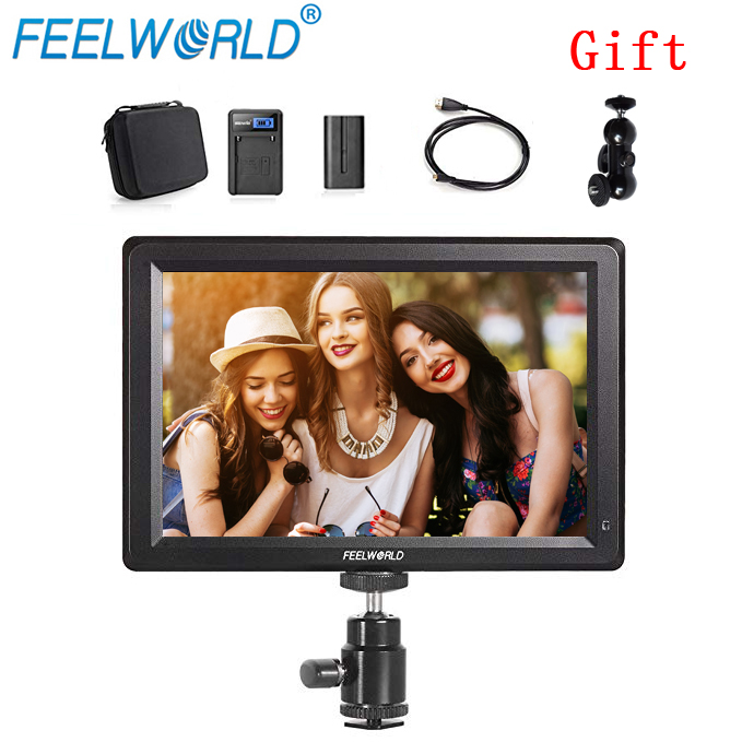 Feelworld F7 7 Inch Utra Slim IPS Full HD 1920x1200 4K HDMI On camera Video Field Monitor for Canon Nikon Sony DSLR Camera Video-in Photo Studio Accessories from Consumer Electronics    1