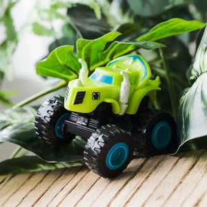 Image 4 - 6pcs Blaze Car Toys 1:64 Vehicles Diecast Toy the Monster Machines Car Russian Miracle Crusher Truck Toys Racing Cars Mountain