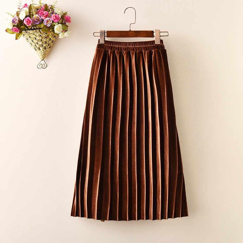 ホット新しいファッション2018かわいいベルベット子スカート子供プリーツスカート滑らかなスカート幼児子供赤ちゃんの女の子ロングスカートAA1201