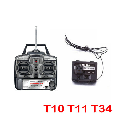 MJX toy spare parts RC helicopter MJX T-series T10 T11 T34 Receiver PCB Receiving Board And Transmitter free shipping 2 4g mjx f45 f645 rc helicopter spare parts the main shaft connect buckle spare parts for mjx f45 f645