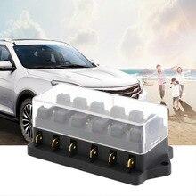 Universal 12v 6 Way Fuse Box Block Fuse Holder Box Car Vehicle Circuit Automotive Blade Car Fuse Accessory Tool hot selling