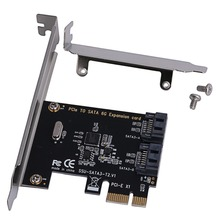цена на 1 Set PCIe PCI Express to SATA3.0 2-Port SATA Connectors III 6G Controller Expansion Card Adapter for PCIe 2.0 High Quality C26