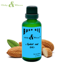 цена на Vicky&winson Apricot kernel oil 50ml base oil Essential oils skin care almond oil Massage Moisturizing hydrating VWJC16