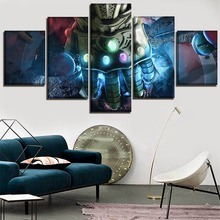 5 Piece Canvas Print Movie Avengers Infinity War Poster Home Decor Wall Art Bedroom Gauntlet Of Thanos Picture Framewor