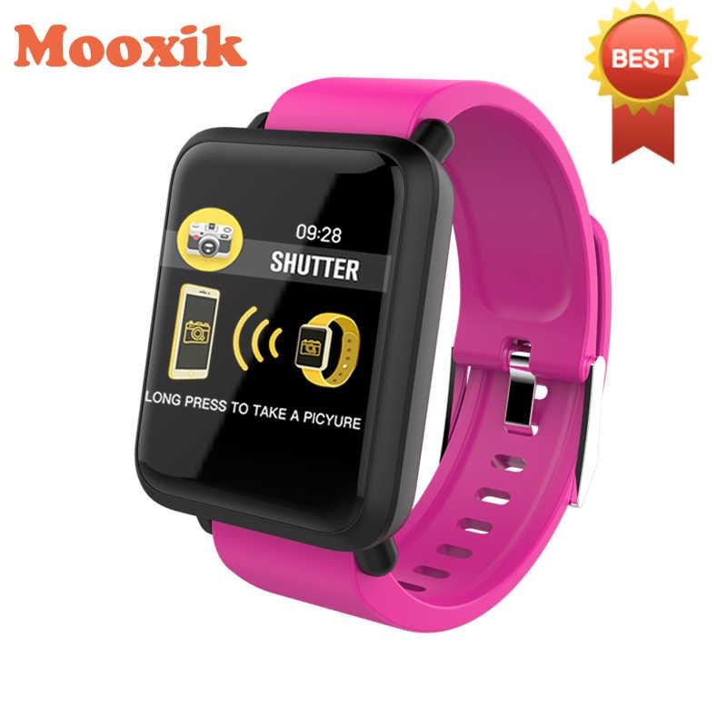 c84f2a94ff1f Reloj inteligente rastreador de Fitness pantalla de Color de 1,22 pulgadas  Registro de calorías sedentario recordatorio deportes pulsera M28 para ...