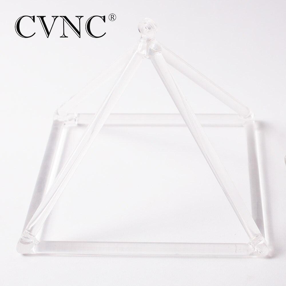 CVNC qualité supérieure 8 Chakra Effacer Cristal de Quartz Chant Pyramide