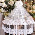 Flower girl accessories little princess hair accessory child female child formal dress two layer cathedral VEIL