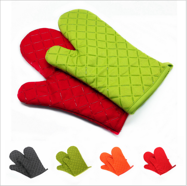 2 piece Heat Resistant  Thick Cooking BBQ Grill Glove Oven Mitt Baking Cookware Silicone Oven Glove Mitt Kitchen Barbecue Gadget