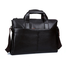 Men Genuine Leather Bags Business LaptopTote Bag Brands Quality Briefcase Leather Handbag Shoulder Messenger Men's Travel Bags
