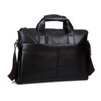 Men Genuine Leather Bags Business LaptopTote Bag Brands Quality Briefcase Leather Handbag Shoulder Messenger Men S