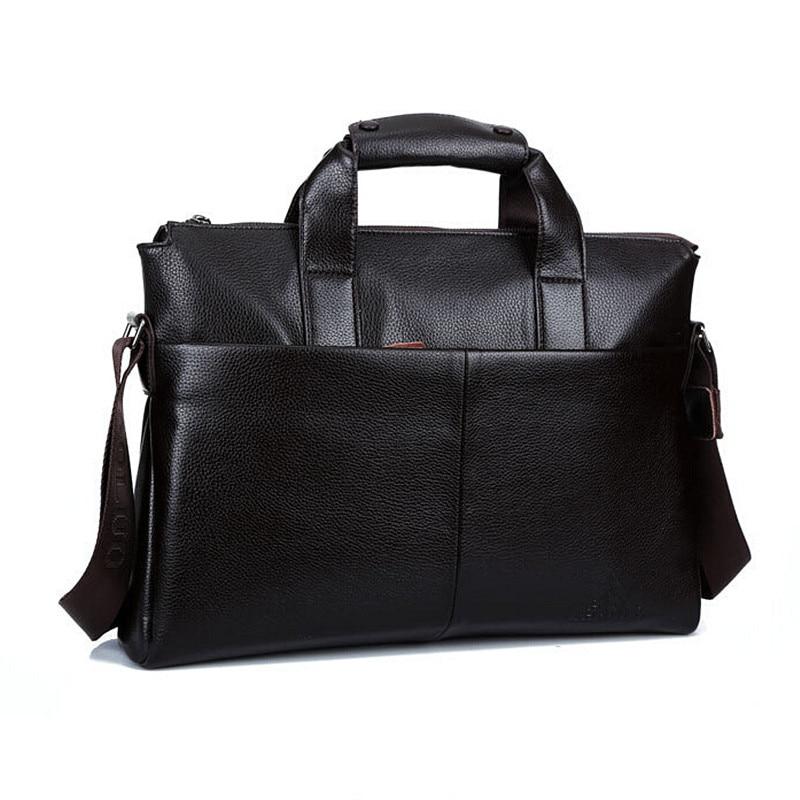 Men Genuine Leather Bags Business Laptop Tote Bag Brands Quality Men's Briefcase Real Leather Handbag Shoulder Bags multifunctional genuine leather cowhide dark coffee men briefcase tote back pack business bag fit 15 laptop pr577026q 1