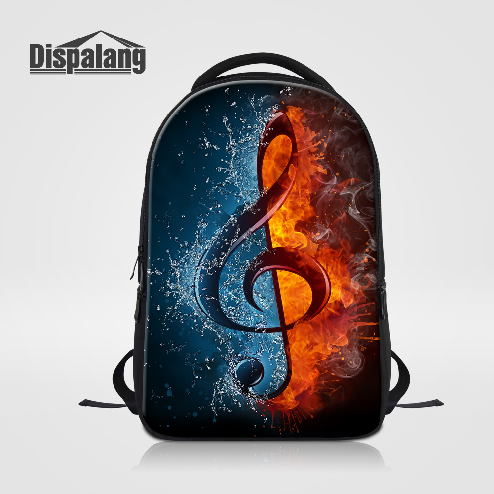 Dispalang Brand Designer Laptop Backpack For College Student 3D Musical Note Printing Female Backpacks Women Travel