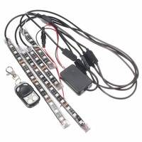 RGB LED Car Motorcycle Frame Glow Lights Flexible Neon 5050 Strip Light DC12V 24V Wireless Remote