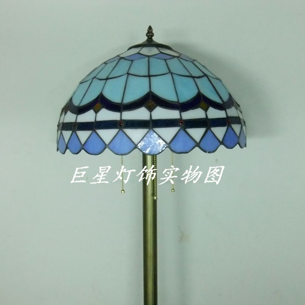 Tiffany Blue Mediterranean Living Room Floor Lamp Lighting Lamps Bedroom Stained Glass On Aliexpress