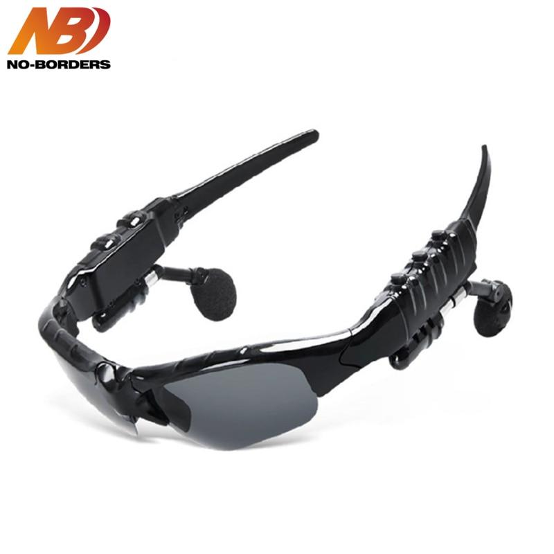 NO-BORDERS Smart Glasses Bluetooth Earphone Bluetooth Sunglasses Outdoor Sport Cycling Wireless Sunglasses Headphones with Mic