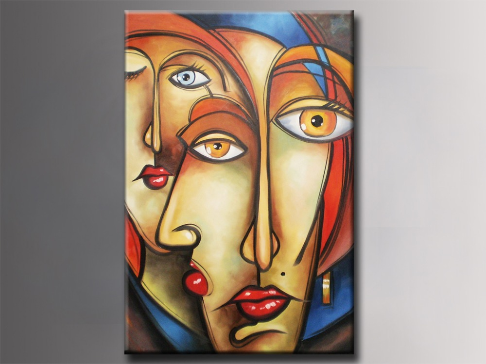 Aliexpress.com : Buy Hand painted painting Abstract Faces for home ...