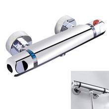 Cromo, barra termostática, Válvula mezcladora de ducha, grifo antiescaldado