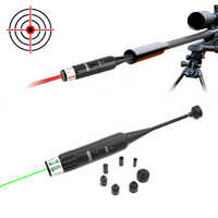Hunting Green Red Laser Boresighter Kits Green Red Dot Bore Sight with On Off Switch for .177 to .50 Caliber Riflescope