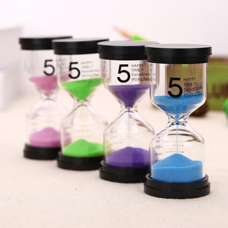 home decoration hourglass glass timer set 5  10  15  30 minutes colorful sand calendar gift watch
