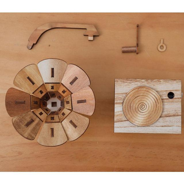 DIY Wooden Gramophone Music Box