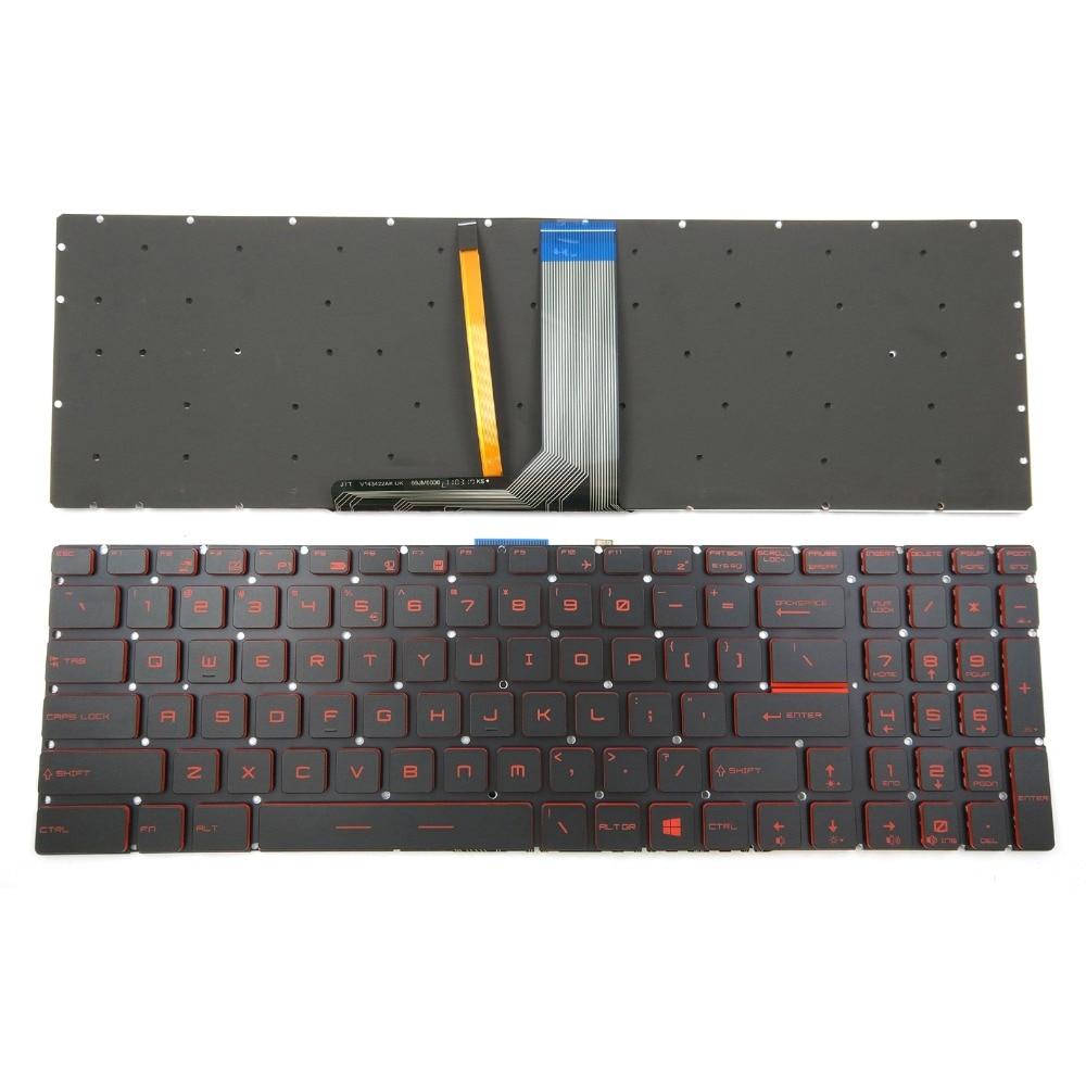New Red Backlit Keyboard For GL62M GL62MVR GL62VR GL63 GL72M GL72V GL73 GV62 GV62VR GV72 GV72VR