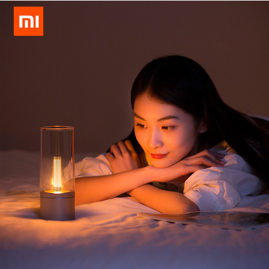 Original Xiaomi Yeelight Mijia Candela Smart Control Led Night Light of Mood Light Xiaomi Smart Home Kits For Mi Home Smart APP xiaomi mijia yeelight portable led makeup mirror with light dimmable and smart motion sensor night light for xiaomi smart home