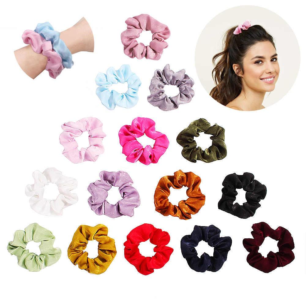 Свежий конфетный цвет ткань резинки для женщин леди эластичные волосы резинка аксессуары для резинки для девочек резинка для волос держатель головной убор