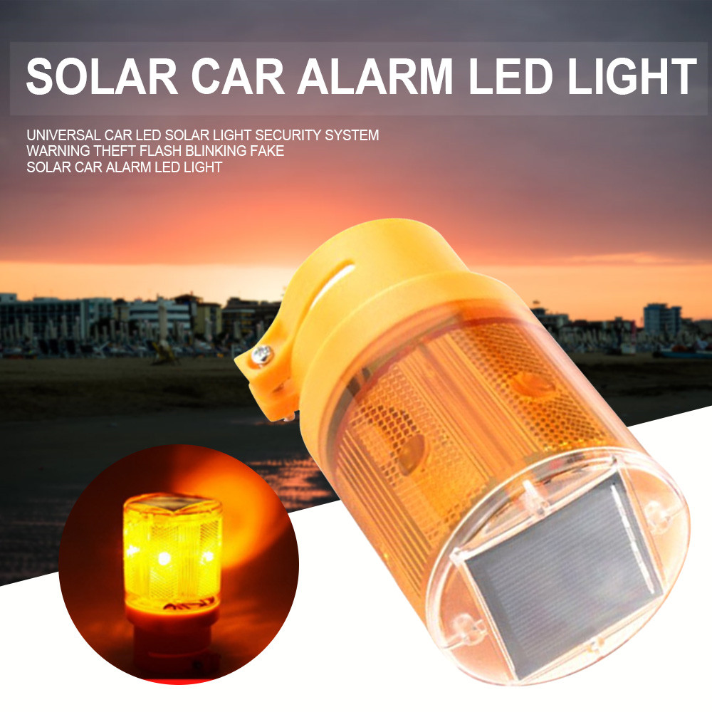 Universal Car LED Solar Light Security System Warning Theft Flash Blinking Fake Solar Car Alarm LED Light цены